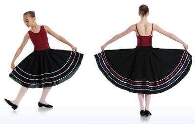 DANCERIES Charakterrock 50cm Z45-3